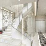 【階段】ガラスによる広さの演出